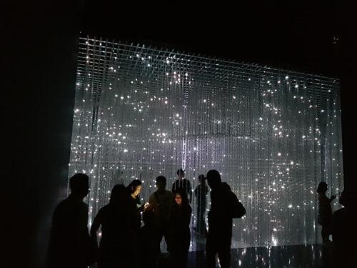 An LED starfield