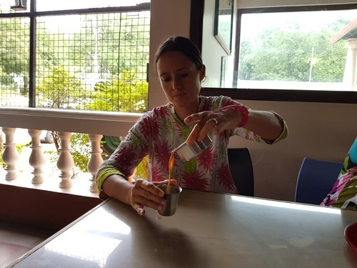 Cooling tea, Indian-style