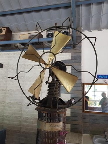 A steam-powered fan