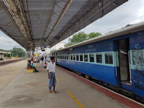 The Mumbai Express arrives at Kodaikanal Road
