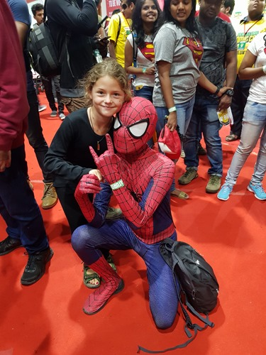 Hanging with Spidey