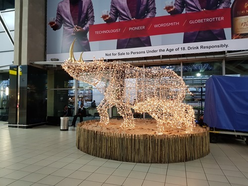 Xmas decorations, African-style