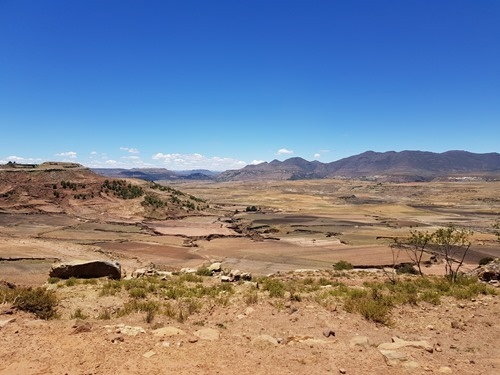 Driving across to Mafeteng