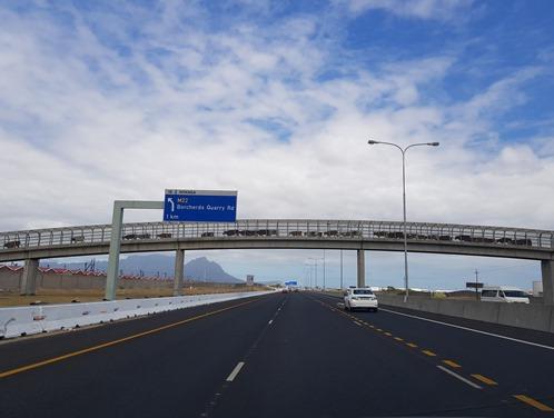 Cows crossing the motorway