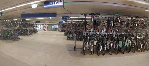 Bikes under the station