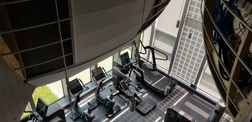 And the fitness room