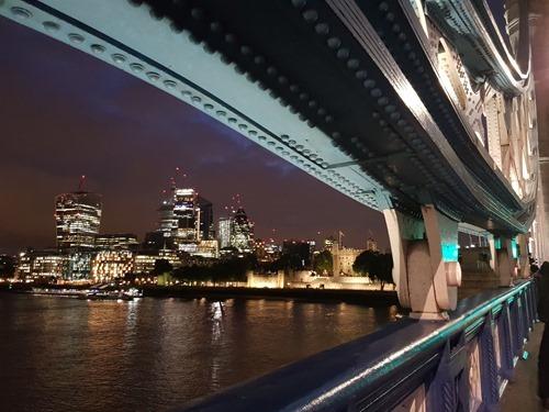 The Tower of London through Tower Bridge