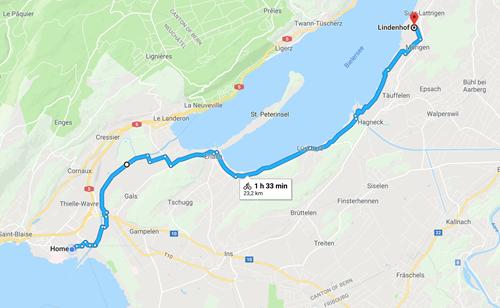 Day 1 - Marin to Sutz-Lattrigen