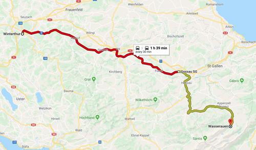 Day 8 - Winterthur to Wasserauen