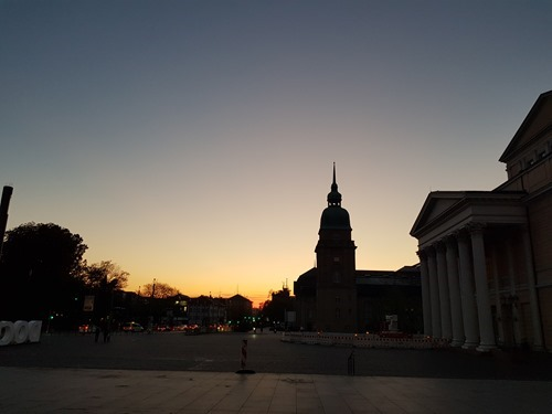 Darmstadt at dusk