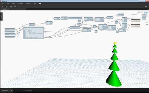 Dynamo script to build a Xmas tree