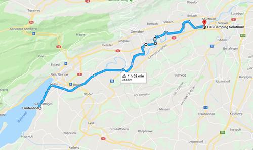 Day 2 - Sutz-Lattrigen to Solothurn