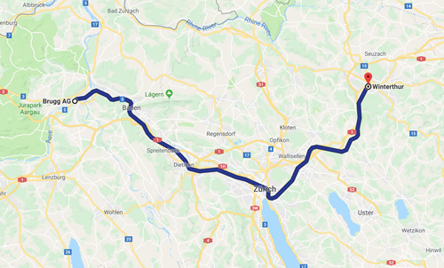 Day 6 - Brugg to Winterthur