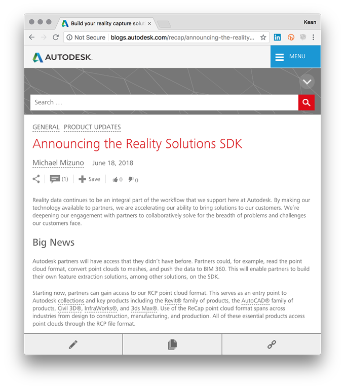 The Autodesk Reality Solutions SDK and importing custom