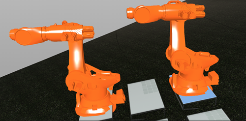 Kuka robots in the Forge viewer