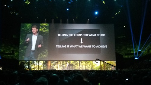 Jeff talks generative during the AU2014 keynote