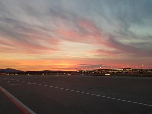 Lovely sky arriving in Zurich