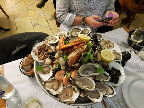 Quite a plate of seafood