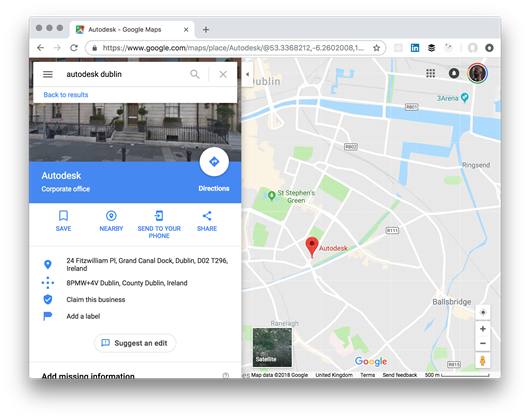 Finding Autodesk in Dublin