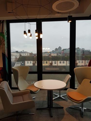 The view across rainy Dublin