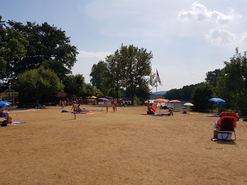 Parched swimming pool at Schönenwerd