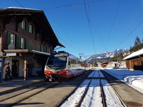 The train back from Zweisimmen to Lenk