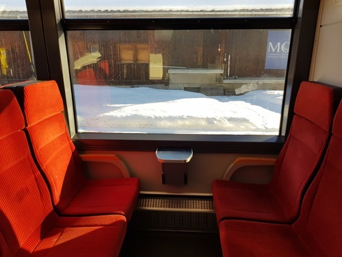 The train from Lenk to Zweisimmen