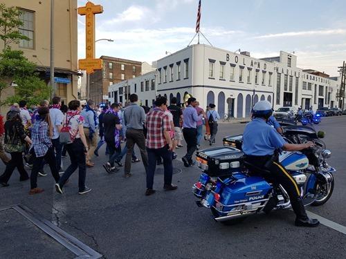 A police escort