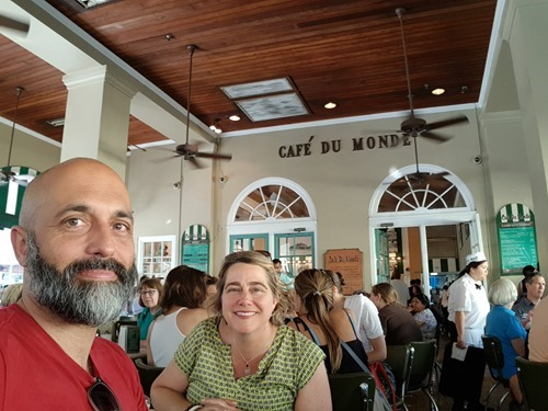 Coffee with Elise at Café du Monde