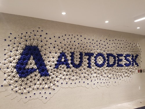 Generatively-designed Autodesk sign