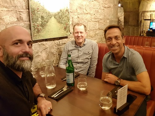 Old Neuchatel colleagues catching up