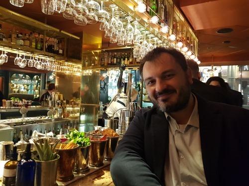Paolo at the bar