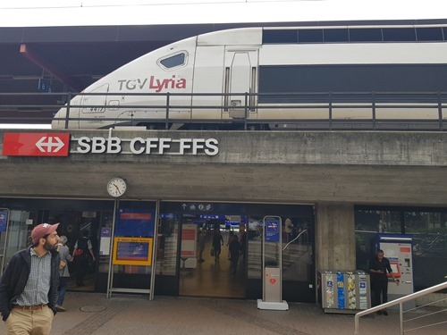 The TGV arrives