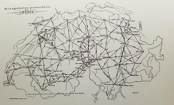 Early triangulation network of Switzerland