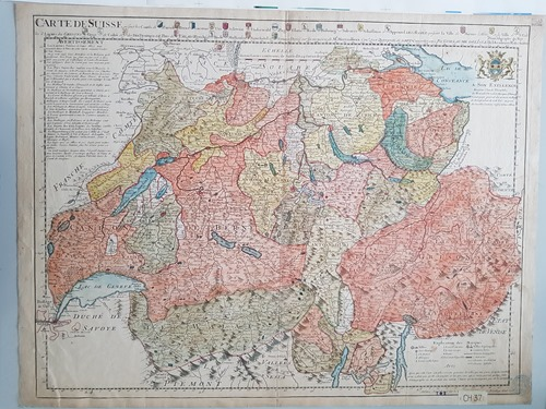 An early map of Switzerland
