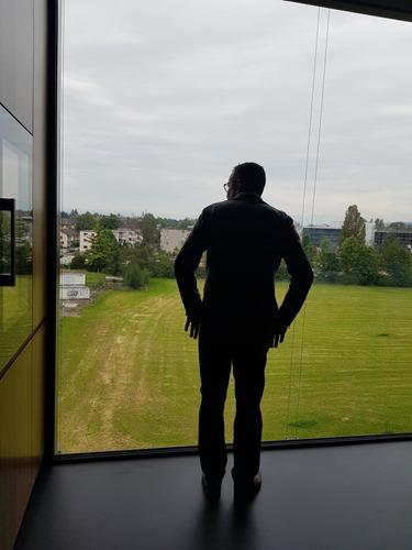 Thomas admiring the view