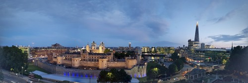 View from the citizenM over the Tower of London