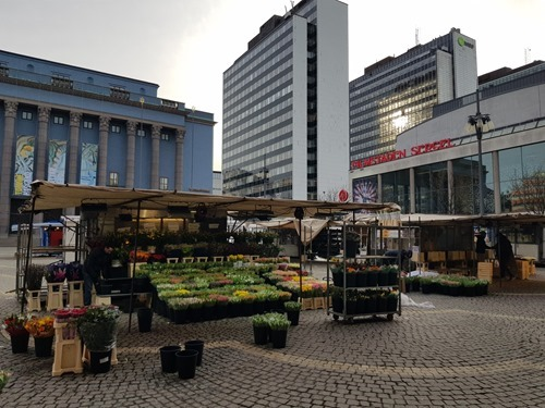 The view across the square from the Haymarket