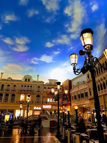 Blue skies in Vegas