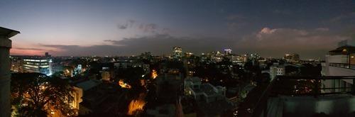 Panoramic dusk
