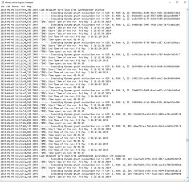 Refinery server log