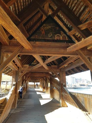 Inside the Spreuer Bridge