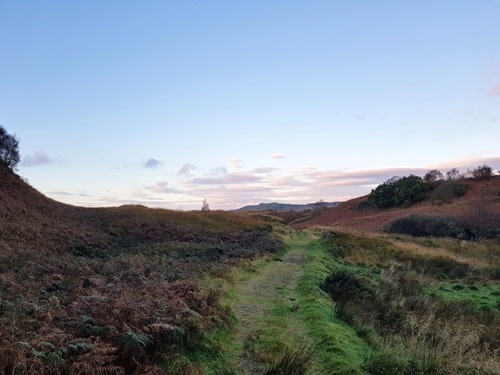 Running across the moors