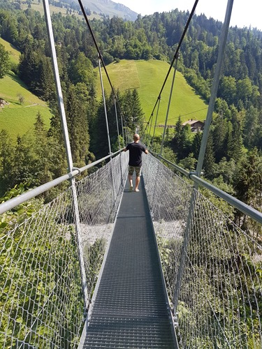 Crossing scary bridges