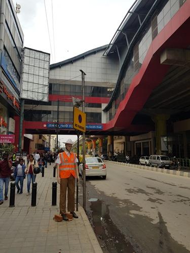 The metro and fake policeman on MG Road