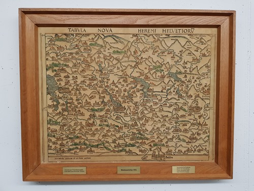 A lovely old map of Switzerland