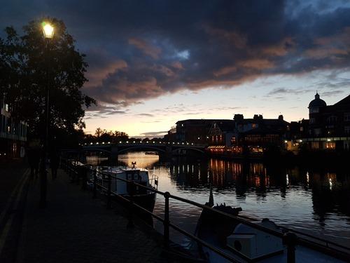 Eton Riverside at dusk