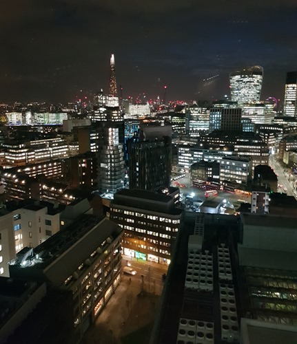 View from the 16th floor of Aldgate Tower