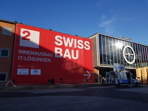 Arriving at Swissbau