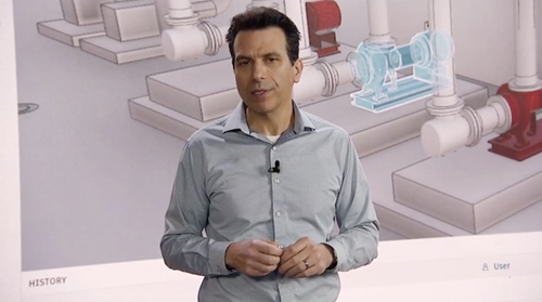 Andrew announcing Autodesk Tandem